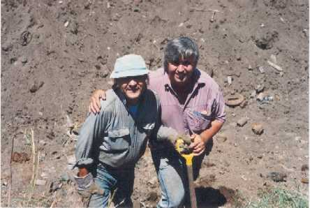 (l-r) gino papagni  digging companion dave tuckwell